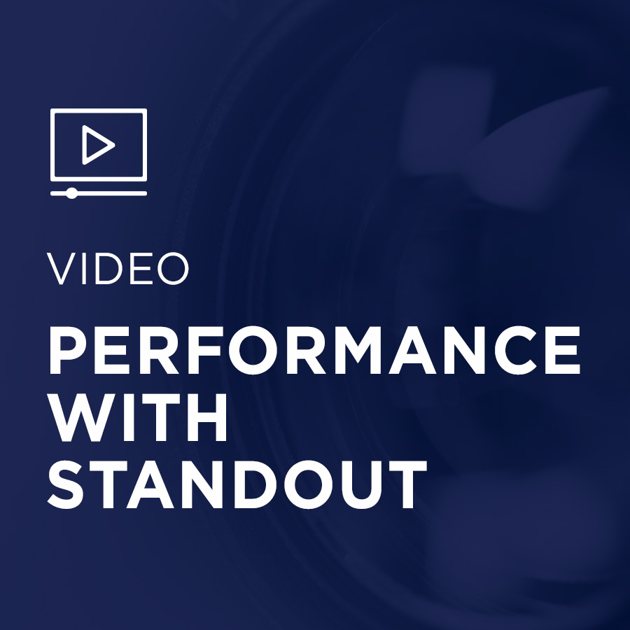 Image for Performance With StandOut portfolio entry