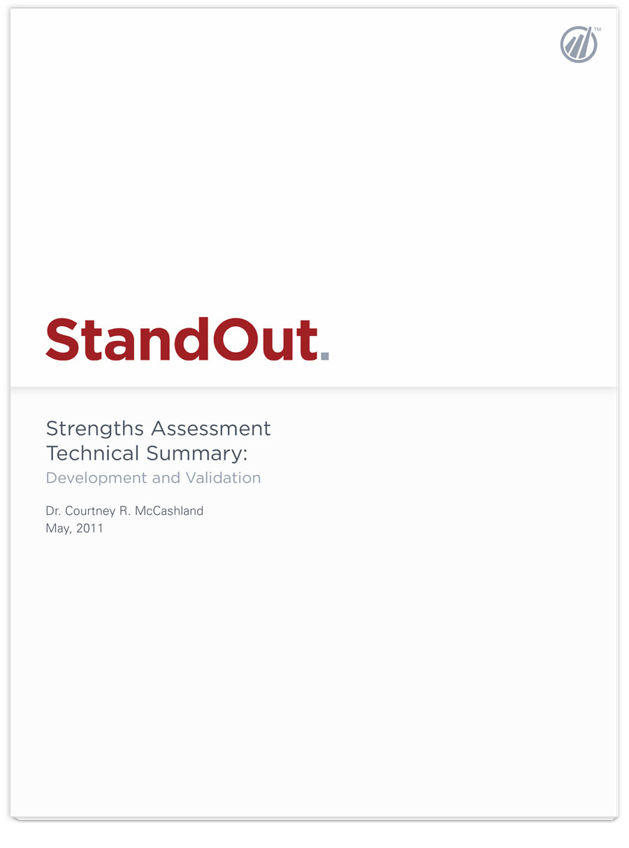 Image of StandOut Strengths Assessment Technical Summary PDF